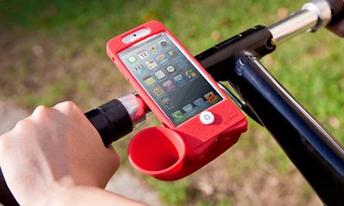 硅胶环保材质 Bone iPhone5 单车号角扬声器